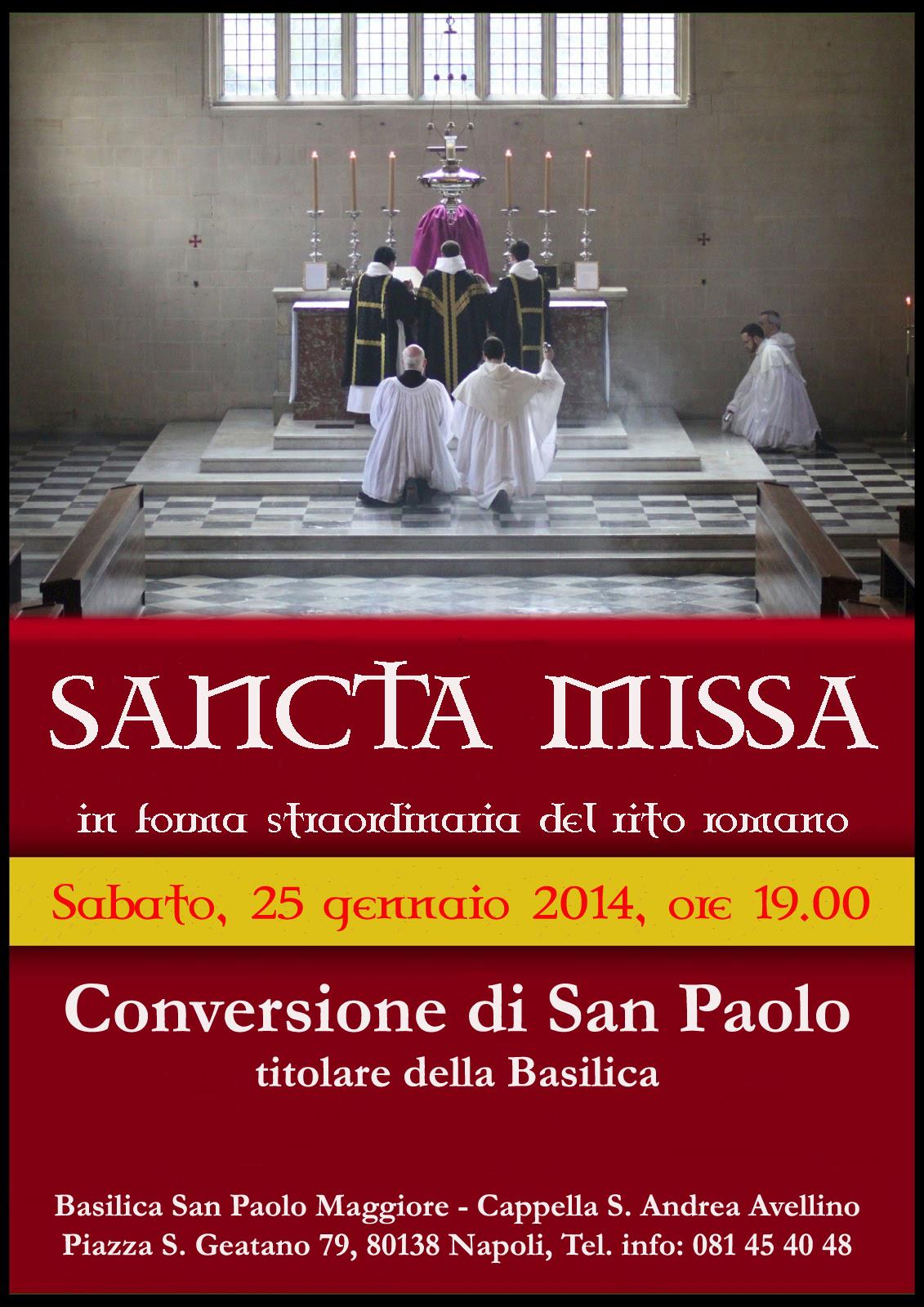 Basilica di S. Paolo Maggiore Napoli. Messa tridentina il 25 gennaio 2014