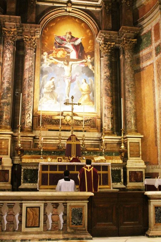 Messa 21 febbraio 2015 alla SS.ma Trinità dei Pellegrini Roma per la cessazione dell'epidemia da ebola 2