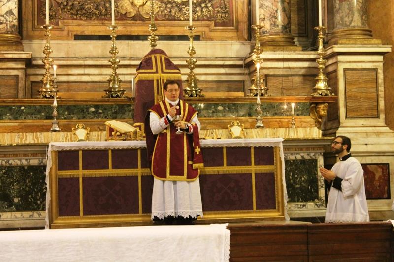 Messa 21 febbraio 2015 alla SS.ma Trinità dei Pellegrini Roma per la cessazione dell'epidemia da ebola 4