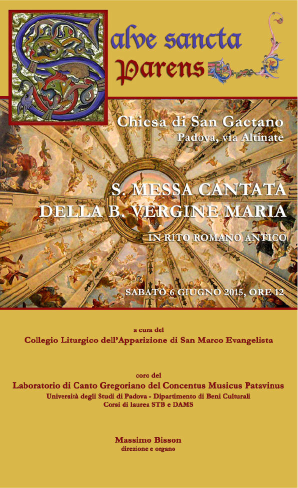 Messa 6 giugno 2015 alla chiesa di S. Gaetano Padova