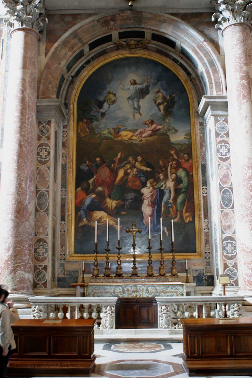 Basilica di S. Pietro in Vaticano. Altare della Trasfigurazione