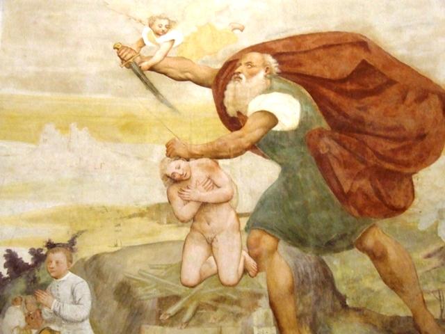 Affreschi. Il sacrificio di Isacco