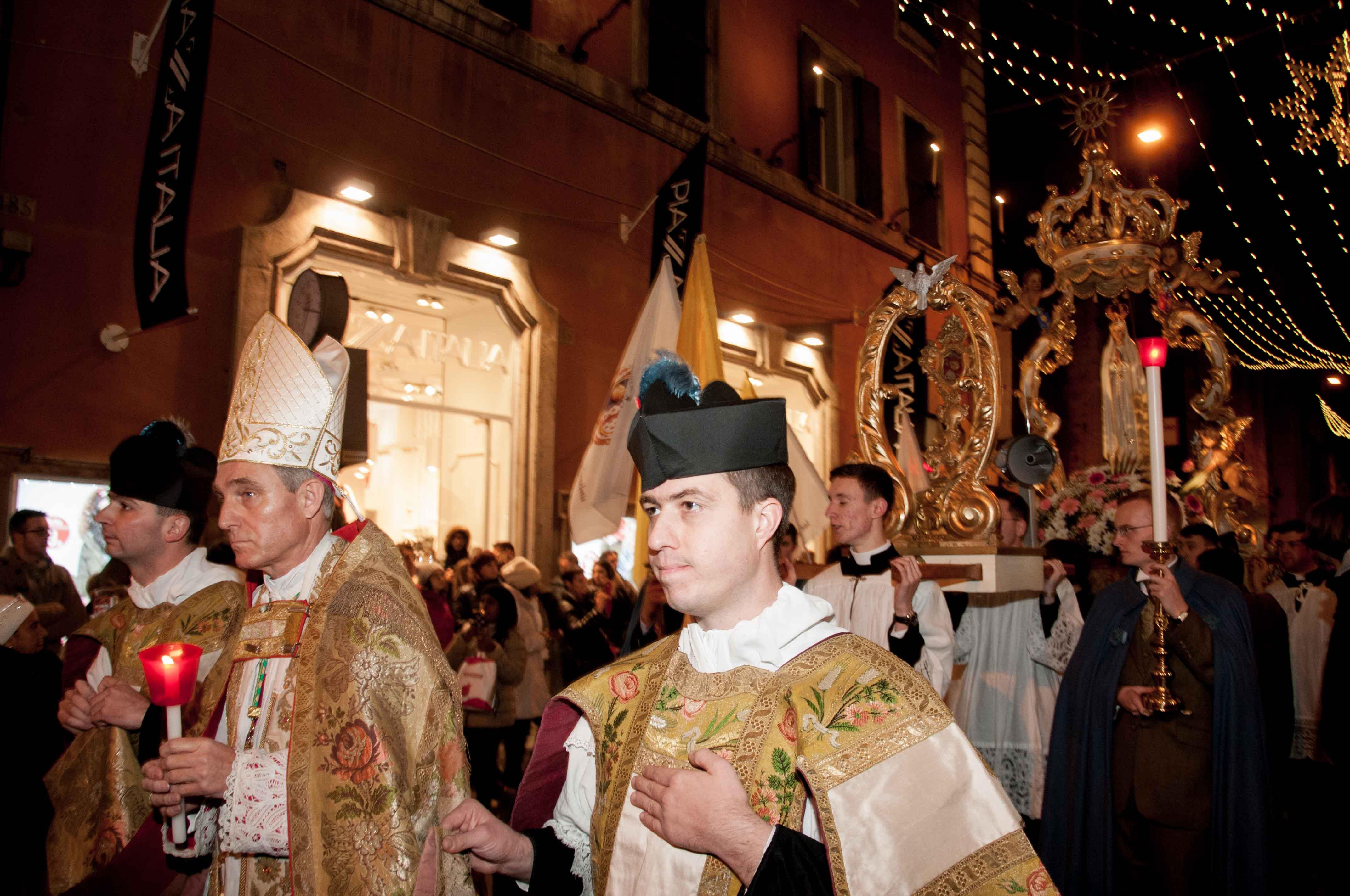 Roma, 8 dicembre 2016 processione dell'Immacolata 1
