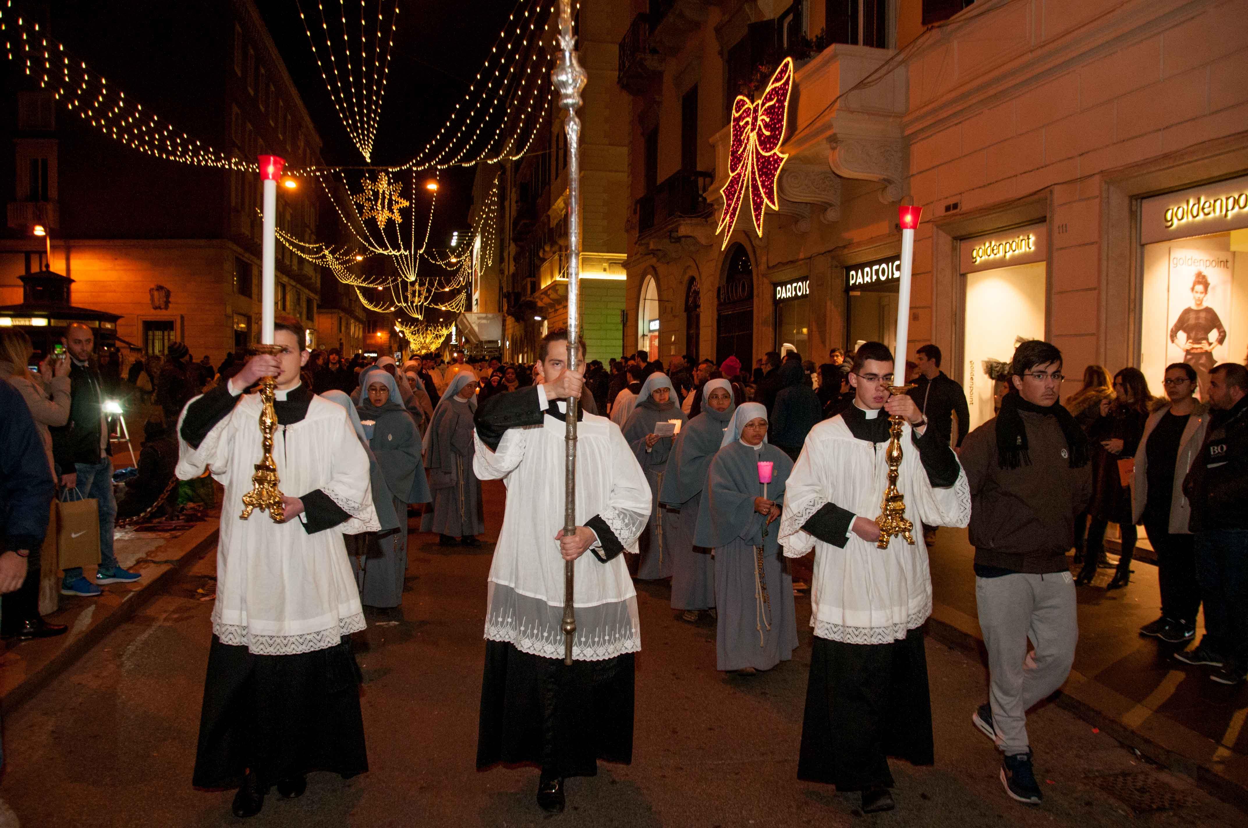 Roma, 8 dicembre 2016 processione dell'Immacolata 3