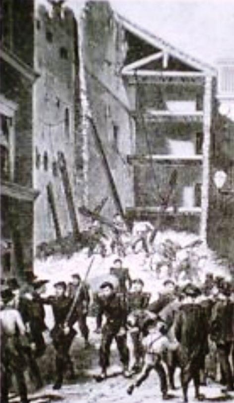 Caserma Serristori a Roma dopo l'attentato del 22 ottobre 1867