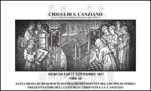 Padova, chiesa di S. Canziano 22 novembre 2017 ore 16