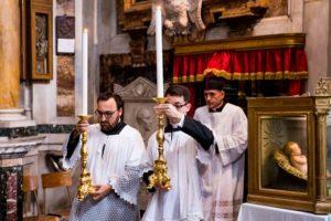 Messa solenne di mons. Soseman a Roma l'8 ottobre 2017 1