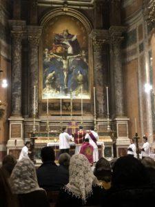 Funzione delle Ceneri alla Ss.ma Trinità dei Pellegrini a Roma il 14 febbraio 2018 1