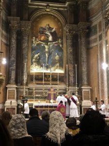 Funzione delle Ceneri alla Ss.ma Trinità dei Pellegrini a Roma il 14 febbraio 2018 2