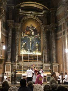 Funzione delle Ceneri alla Ss.ma Trinità dei Pellegrini a Roma il 14 febbraio 2018 3