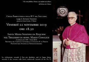 Trigesimo di mons. Mario Cosulich, Trieste 22 novembre 2019